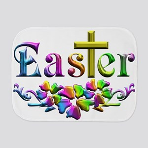 Easter Cross and Flowers Burp Cloth
