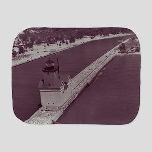 Holland Harbor Lighthouse Burp Cloth
