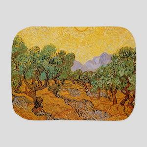 Van Gogh Olive Trees Yellow Sky Sun Burp Cloth