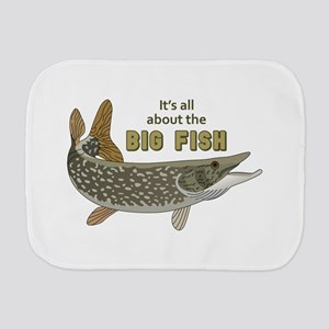 It's All About The Big Fish Burp Cloth