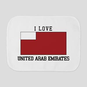 I love v united arab emirates Burp Cloth