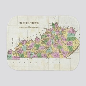 Vintage Map of Kentucky (1827) Burp Cloth
