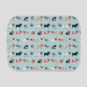 Winter Pugs Burp Cloth