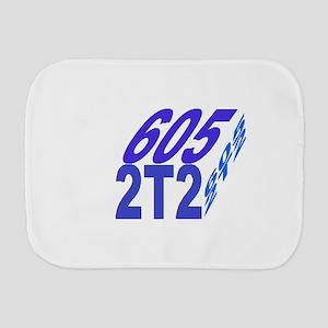 605/2t2 cube Burp Cloth