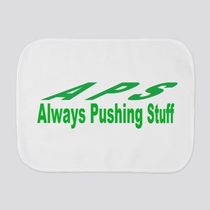 pushing stuff Burp Cloth