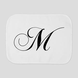 M-cho black Burp Cloth