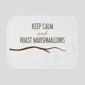 Keep Calm Marshmallows Burp Cloth