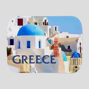 Blinding White Buildings in Greece Burp Cloth