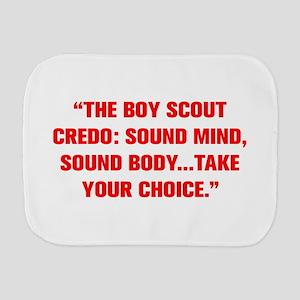THE BOY SCOUT CREDO SOUND MIND SOUND BODY TAKE YOU