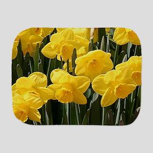 Daffodil flowers in bloom in garden Burp Cloth