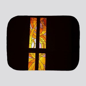 stained glass church wind Burp Cloth