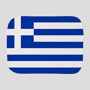 Greece Flag Burp Cloth