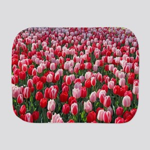 Red & Pink Tulips Holland Netherlands Burp Cloth