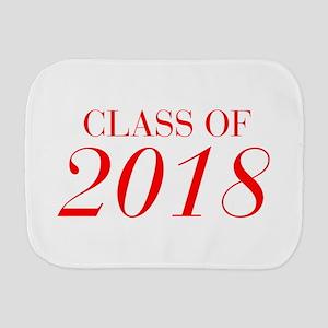 CLASS OF 2018-Bau red 501 Burp Cloth