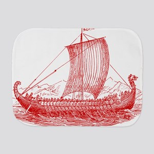Cool Vintage Viking Ship Design Burp Cloth