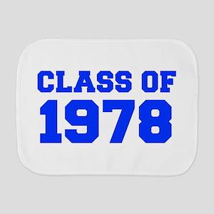 CLASS OF 1978-Fre blue 300 Burp Cloth