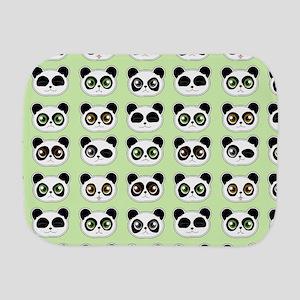Cute Panda Expressions Pattern Burp Cloth