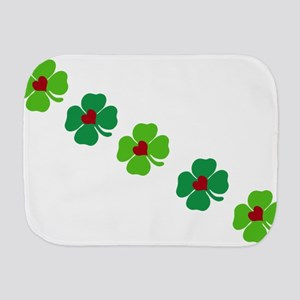 Lucky Irish Clover Burp Cloth