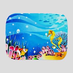 Undersea Coral, Fish Seahorses Burp Cloth