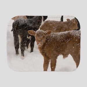 Calves in The Snow Burp Cloth