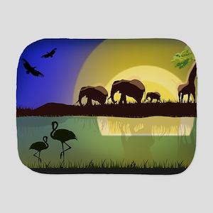 Animals African Landscape Burp Cloth