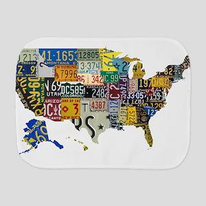 america license Burp Cloth