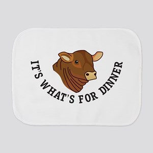 Its Whats For Dinner Burp Cloth