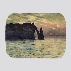 Claude Monet, Cliff Etretat Sunset Burp Cloth