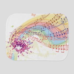 Colorful Music Burp Cloth
