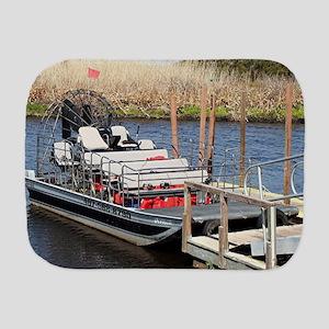 Florida swamp airboat Burp Cloth