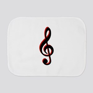 Music Note Burp Cloth