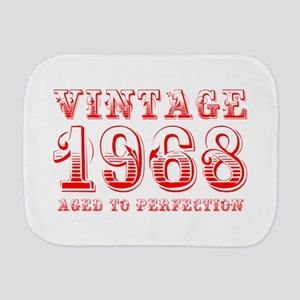 VINTAGE 1968 aged to perfection-red 400 Burp Cloth