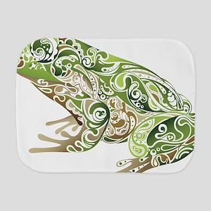 Filligree Frog Burp Cloth