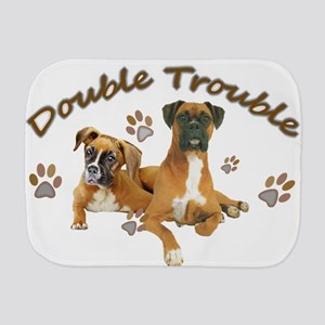 Boxer Double Trouble Burp Cloth