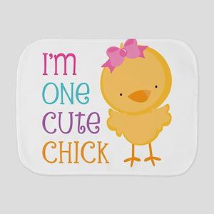 I'm One Cute Chick Burp Cloth