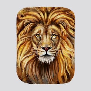 Artistic Lion Face Burp Cloth