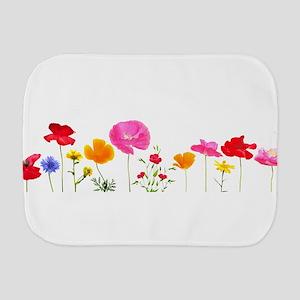 wild meadow flowers Burp Cloth