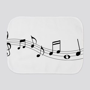 Music Notes Burp Cloth