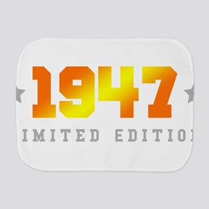 Limited Edition 1947 Birthday Burp Cloth
