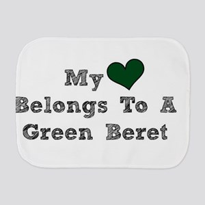 My Heart Belongs To A Green Beret Burp Cloth