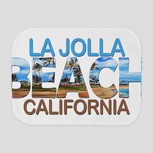 Summer la jolla shores- california Burp Cloth