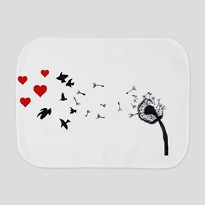 Dandelion Love Burp Cloth