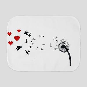 Dandelion Love Burp Cloth