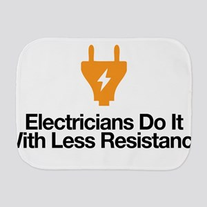 Electricians Less Resistance Burp Cloth