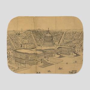 Vintage Pictorial Map of Washington D.C Burp Cloth