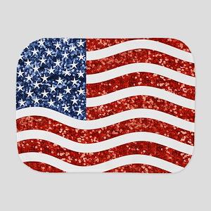 sequin american flag Burp Cloth