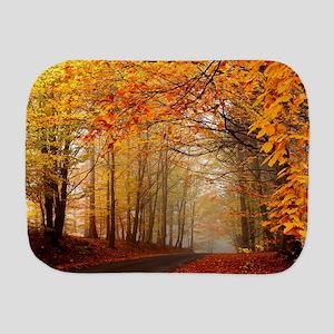 Road At Autumn Burp Cloth