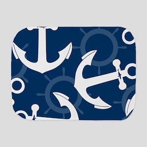 Anchors Wheel Shark Pattern Blue Burp Cloth