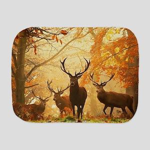 Deer In Autumn Forest Burp Cloth