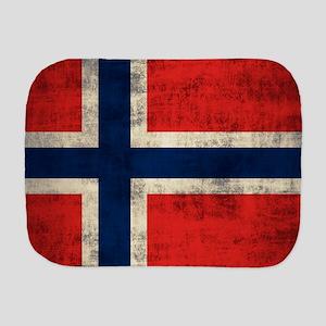Flag of Norway Vintage Grunge Burp Cloth